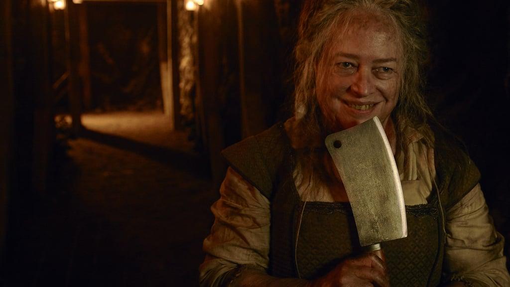 "Bates as ""The Butcher"" aka Agnes Mary Winstead in Roanoke"