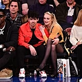 Joe Jonas and Sophie Turner at Basketball Game March 2019