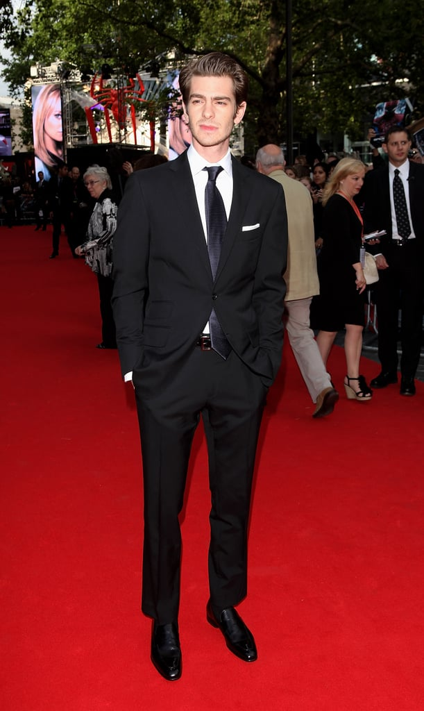 Andrew Garfield hit the red carpet in London.