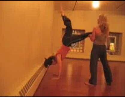 Partner Yoga Pose: Handstand Help