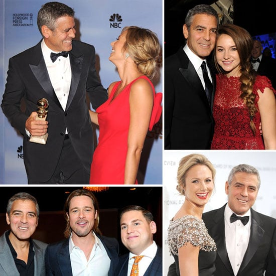 George Clooney and Stacy Keibler's Hot 2012 Award Season Run So Far!