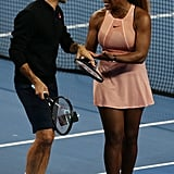 Serena Williams and Roger Federer Mixed Doubles Match 2019