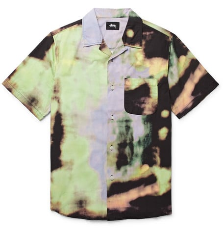 Shop the Look: Stüssy Leary Camp-Collar Tie-Dyed Brushed-Cotton Shirt