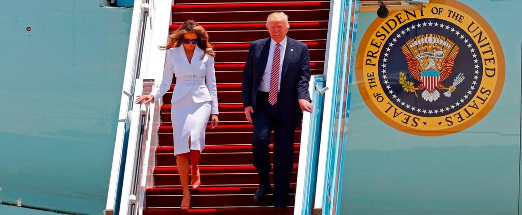 Melania Trump Swats Donald's Hand