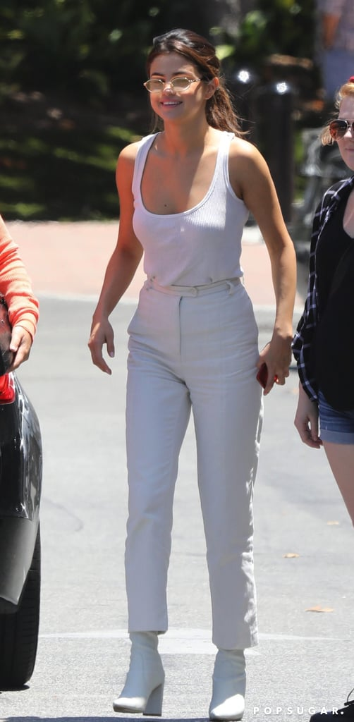 Selena Gomez Wearing an All-White Outfit