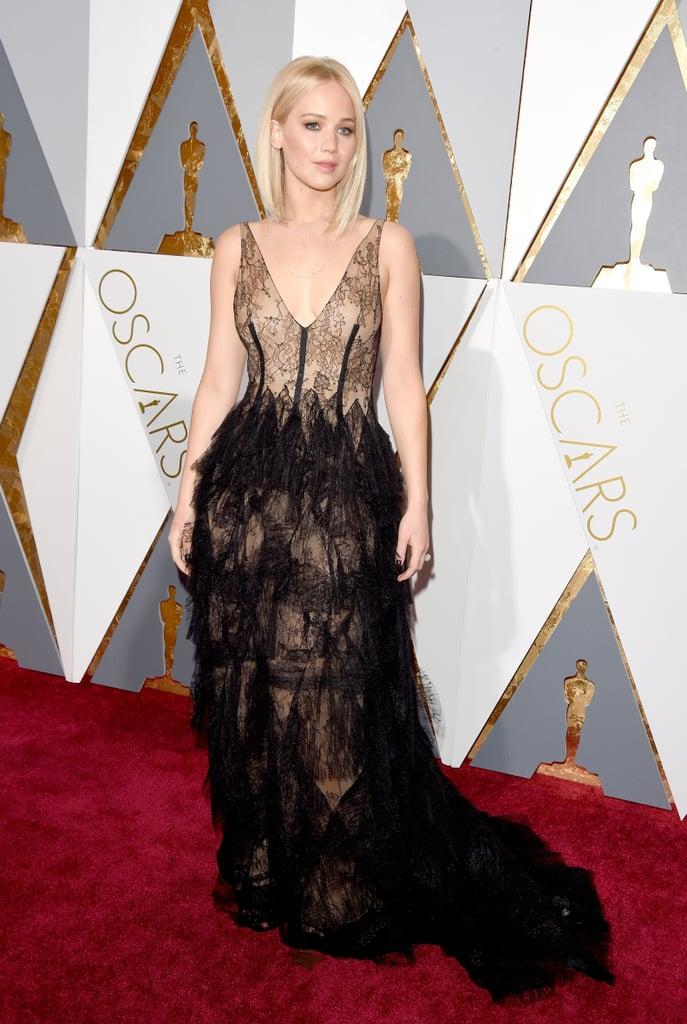 Jennifer Lawrence in Dior, 2016 Oscars | Jennifer Lawrence\'s Oscars ...
