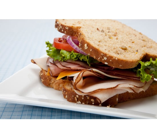 Lunch: Turkey Sandwich on Multigrain Bread