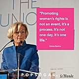 Women's Forum Emma Bonino: Promoting women rights is not an event, it's a process. It's not one day, it's one life.