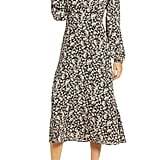 All in Favour Floral Balloon Sleeve Midi Dress