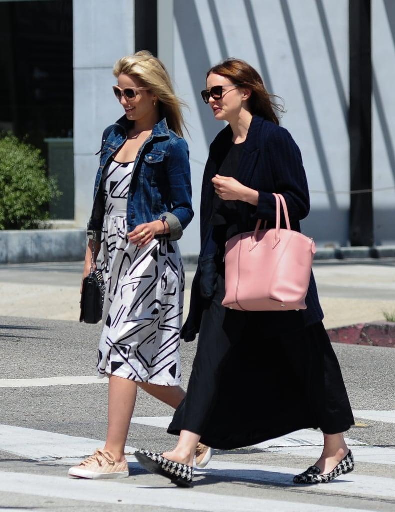 Carey Mulligan Carrying Louis Vuitton