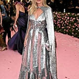 Kate wears an opulent silver gown to the Met Gala in 2019.
