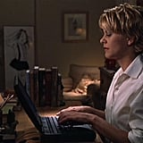 You've Got Mail The quintessential online dating movie, this one dates back all the way to 1998 and is a remake of The Shop Around the Corner. Kathleen Kelly (Meg Ryan) and Joe Fox (Tom Hanks) meet in an AOL chat room, and the rest is history. If you're looking for an easy, breezy, and sweet romantic comedy, then check this one out immediately.  Lesson Learned: Don't judge a book by its cover — or reputation!