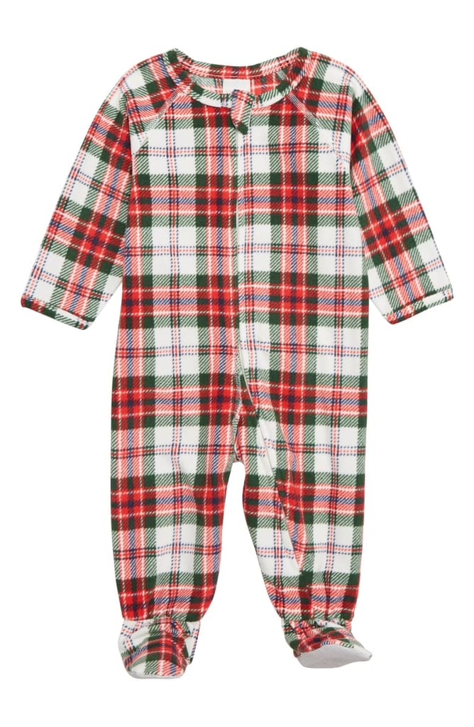 Nordstrom Plaid One-Piece Pajamas (Baby)