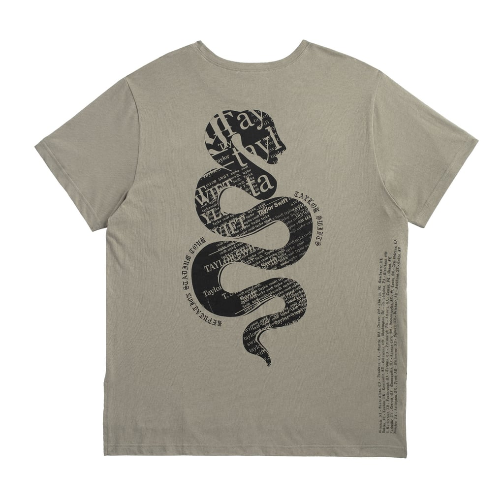 Green Pocket Tour Tee With Snake Design