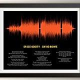 Artsy Voice Print Song Lyric Art