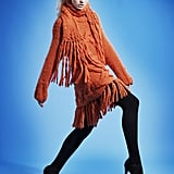 Don't be afraid of bright colours!  Ciel Oversized Fringed Chompa  dress From £280 Ciel Opera scarf From £80 Sternlein organic opaques  £19.50