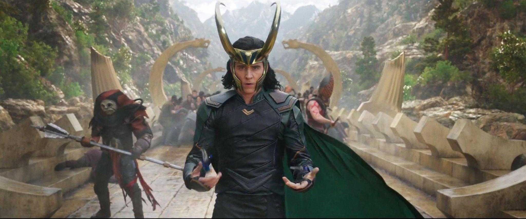 THOR: RAGNAROK, Tom Hiddleston as Loki, 2017. Walt Disney Studios Motion Pictures/courtesy Everett Collection