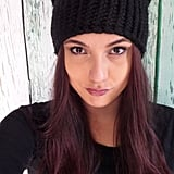 Knitted Black Cat Hat ($25)