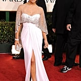 On the Red Carpet at the Golden Globes in Beverly Hills in January 2011