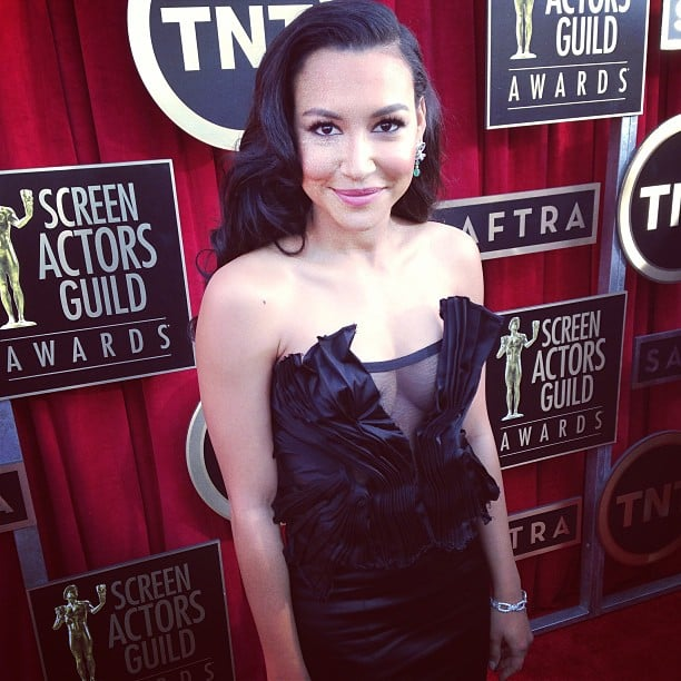 Glee's Naya Rivera wore DKNY to the SAGs. Source: Instagram user sagawards