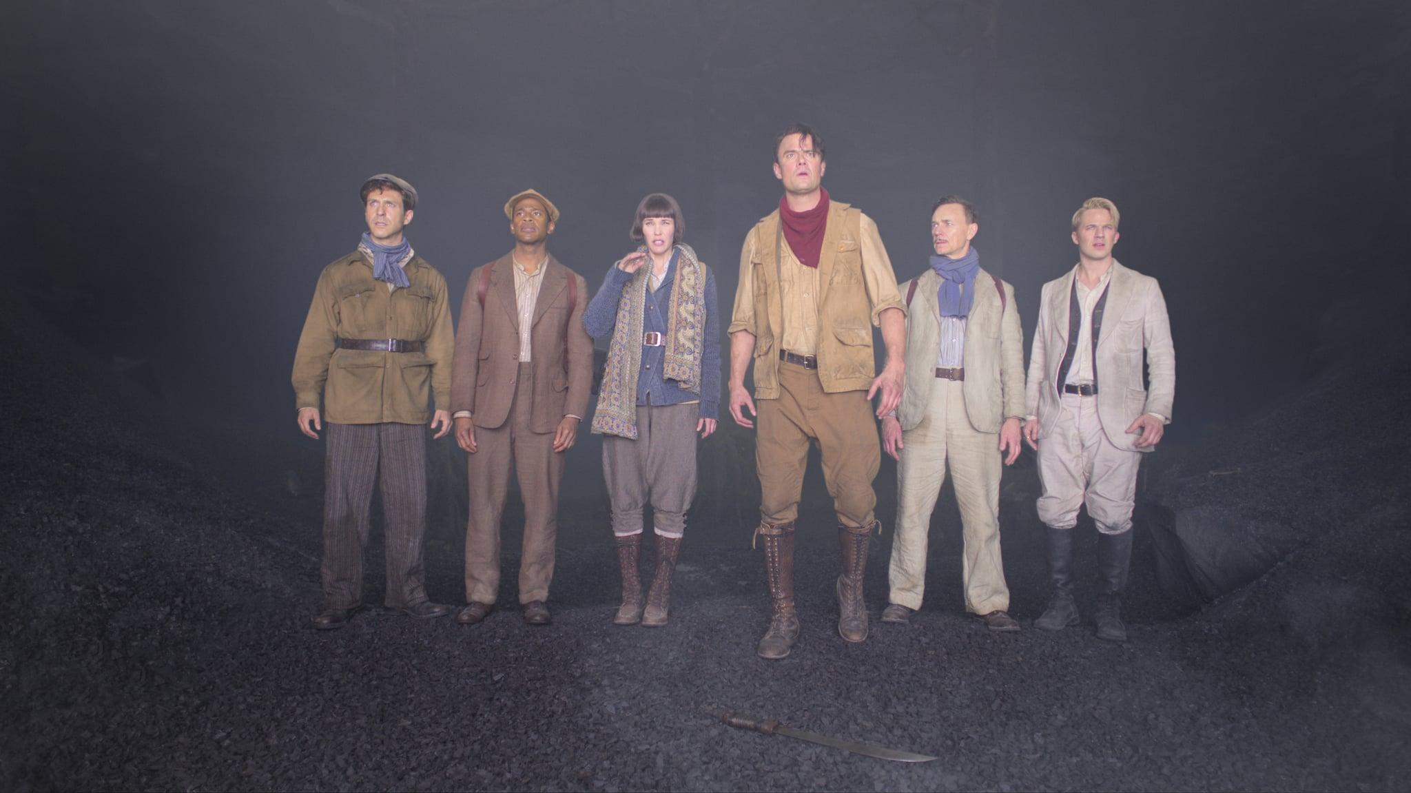 JUPITER'S LEGACY (L-R) DAVID JULIAN HIRSH as R. CONRAD, MIKE WADE as FITZ SMALL, LESLIE BIBB as GRACE SAMPSON, JOSH DUHAMEL as SHELDON SAMPSON, BEN DANIELS as WALTER SAMPSON, and MATT LANTER as GEORGE HUTCHENCE in episode 7 of JUPITER'S LEGACY. Cr. COURTESY OF NETFLIX  2021