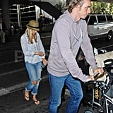 Kristen Bell and Dax at LAX