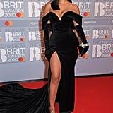 Maya Jama at the 2020 BRIT Awards in London