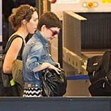 Anne Hathaway was at LAX.