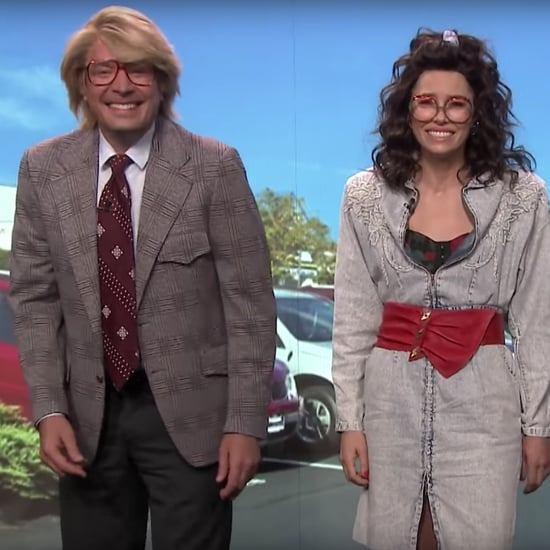 Jimmy Fallon and Jessica Biel Laugh Through a Hilarious Skit