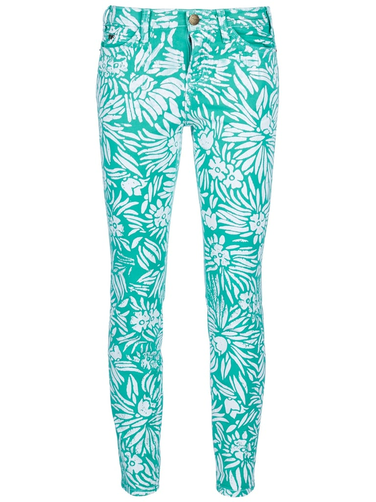 We're loving Diane von Furstenberg's brighter-than-bright printed jeans. They're a playful take on more tropical-themed wares. Diane von Furstenberg and Current/Elliott Skinny Jeans ($234, originally $390)