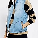 This By Corpus denim puffer vest ($79) is a sporty riff on the denim vest that's perfect for layering up a cozy knit.