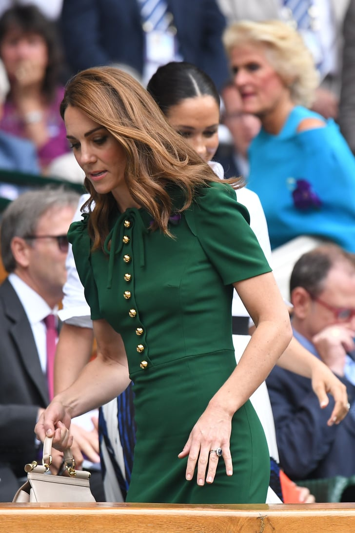 Kate Middleton Green Dress At Wimbledon 2019 Popsugar