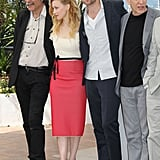 Robert Pattinson posed with costars at the Cosmopolis photocall in Cannes.