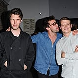 Tom Hughes, Christian Cooke, and Ed Speelers