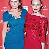 Kate Bosworth and Lake Bell were in bright colors for Sundance.