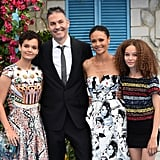 Pictured: Thandie Newton and Ol Parker with their daughters