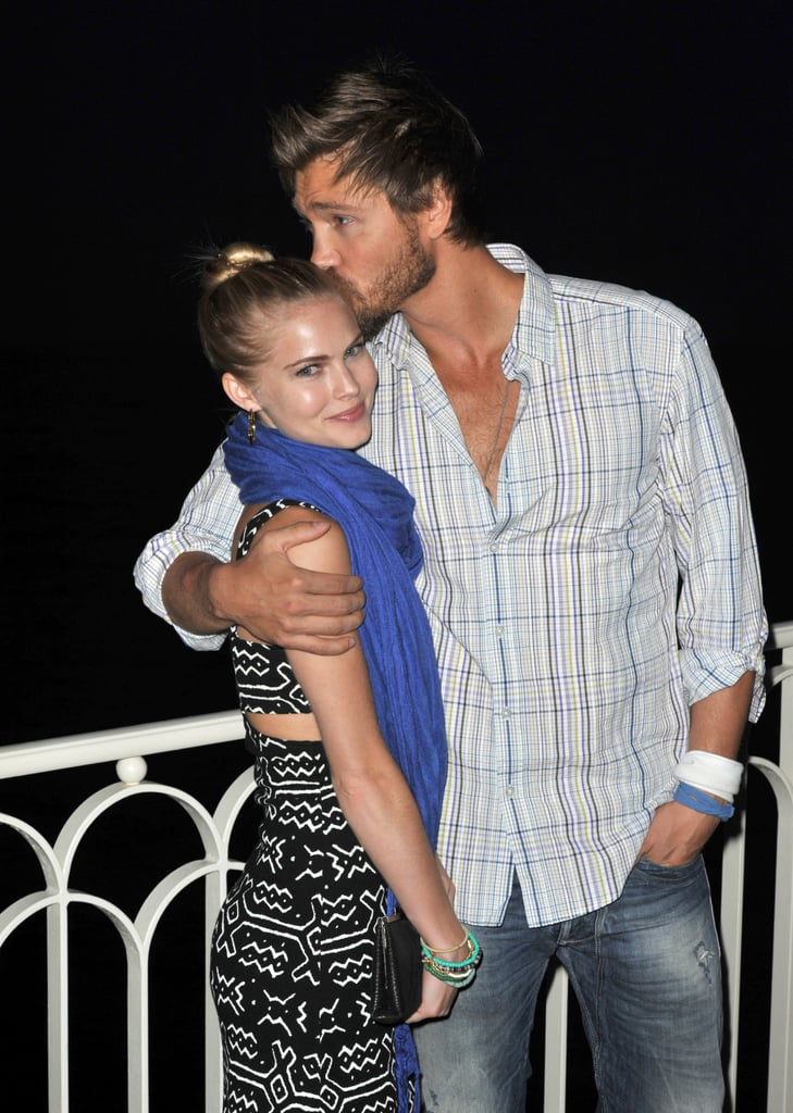 Chad Michael Murray gave fiancée Kenzie Dalton a sweet kiss during their June stay in Monaco.