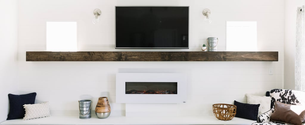 You Can't Help but Fall in Love With This White Living Room Makeover by Lowe's