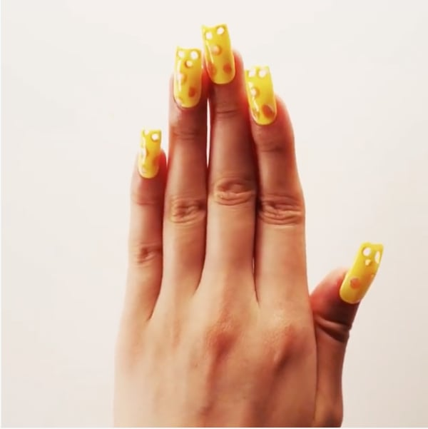 These Cheese-Inspired Nail Art Designs Are Aged to Perfection