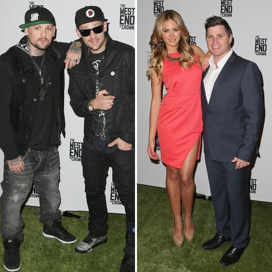 Joel Madden, Benji Madden, Jesinta Campbell Pictures at Footy Fever West End Event