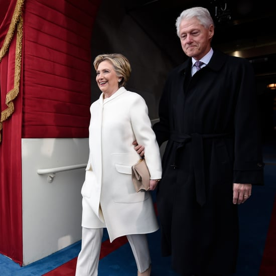 Hillary Clinton's White Suit at Inauguration Ceremony 2017
