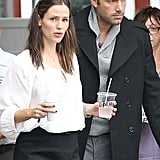 Ben Affleck and Jennifer Garner were spotted in Brentwood together.