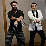 Hugh Jackman's Wolverine went Gangnam style with Psy. Source: Twitter user psy_oppa
