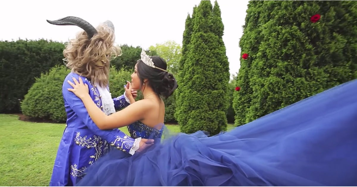 Beauty And The Beast Themed Quinceanera Popsugar Family