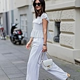 Palazzo pants with a floaty top