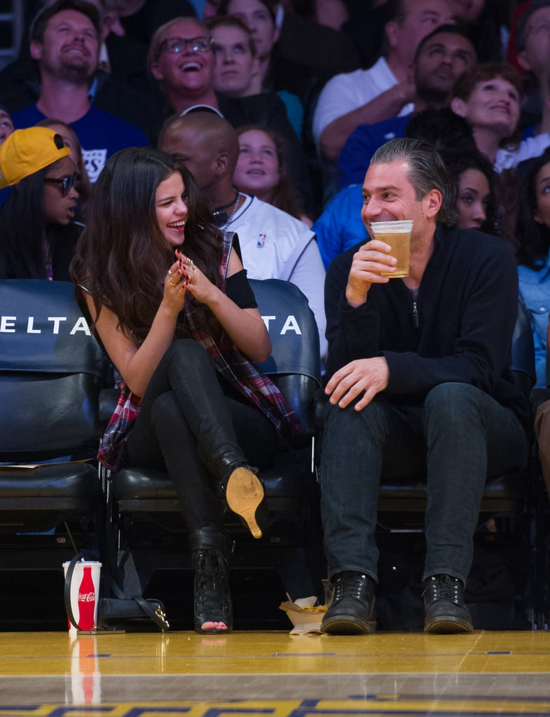 Julianne Hough, Nina Dobrev and Selena Gomez Have a Lakers Girls' Night