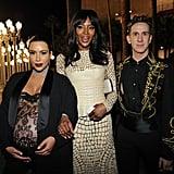 Kim Kardashian, Naomi Campbell, and Jeremy Scott