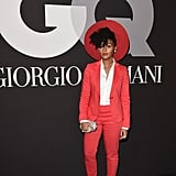Janelle's Grammy Awards afterparty look was red hot from head to toe.