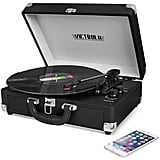Innovative Technology Victrola Solid Suitcase Bluetooth Record Player
