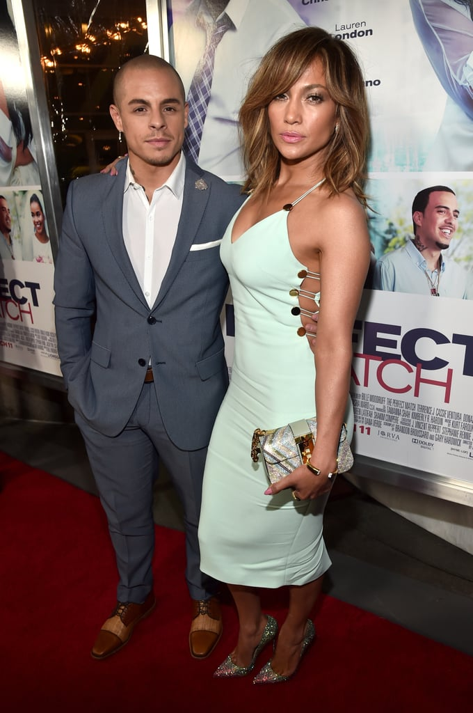 Jennifer Lopez was on hand to support her other half, Casper Smart, at the LA premiere of his new movie, The Perfect Match, on Monday evening. Jennifer was her usual sexy self in a formfitting cutout dress, and Casper — knowing how hot his girlfriend looked — stepped aside and let Jennifer take some shots alone on the red carpet.  Jennifer has made a string of fun appearances these past couple of weeks, from a stop on The Wendy Williams Show to an evening of fun on Watch What Happens Live with Andy Cohen. She's also been busy with her new residency show, Jennifer Lopez: All I Have, at Planet Hollywood Resort and Casino in Las Vegas. Keep reading to see more of Jennifer's night, and then get a peek at her enviable abs.